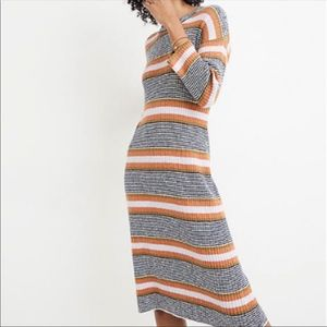 Madewell Midi Striped Sweater Dress